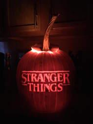 stranger things pumpkin