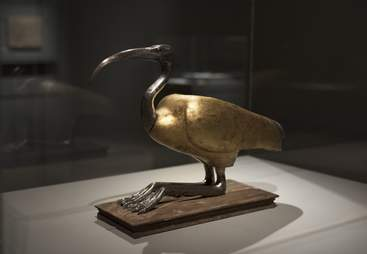 Gold ibis coffin from ancient Egypt