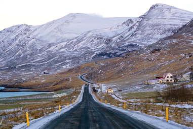 Ring road around Iceland
