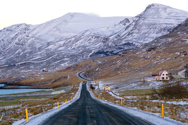 Ring road around Iceland