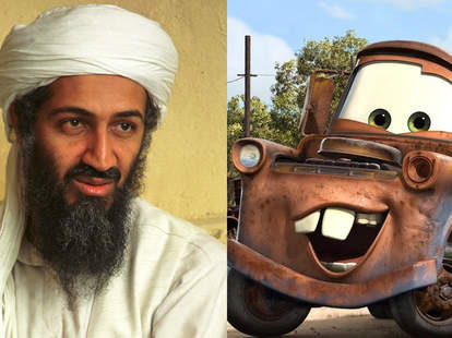 mater cars osama bin laden movies