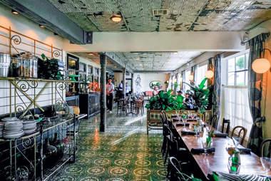 interior at Sherwood's in Miami