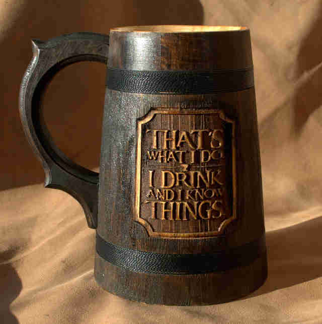 game of thrones I drink and I know things mug