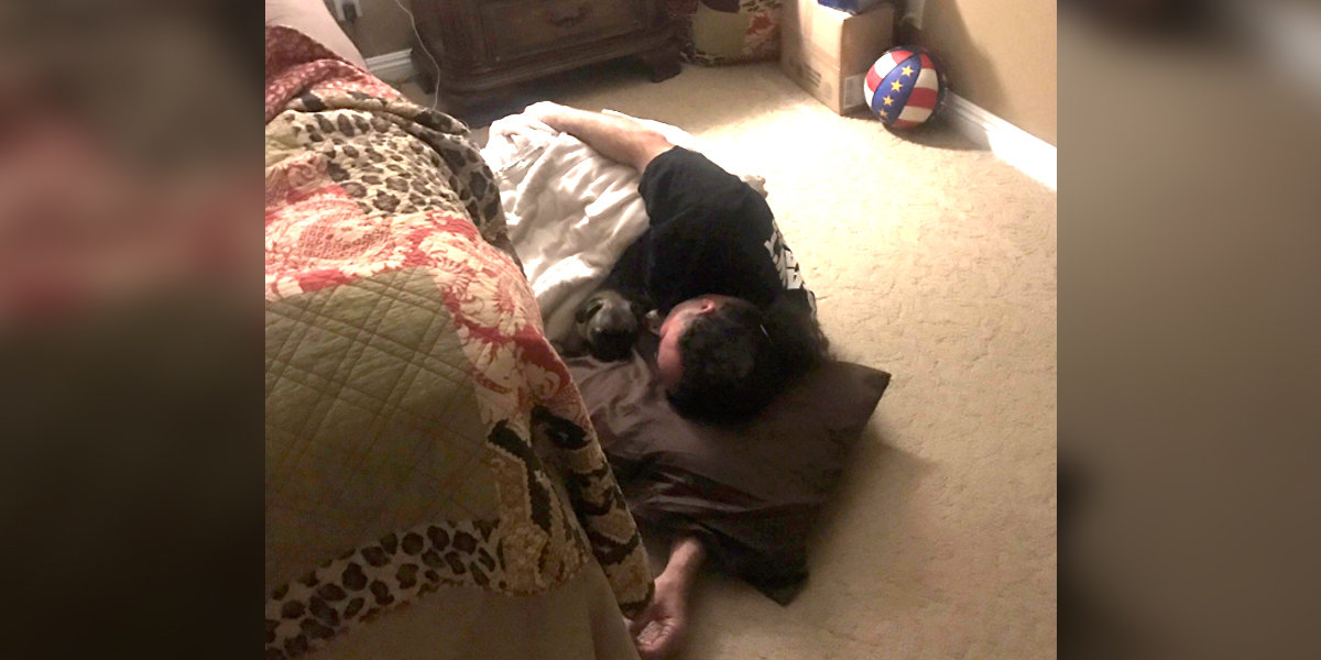 Man Has Best Reaction After Wife Says Dog Can't Sleep In Bed