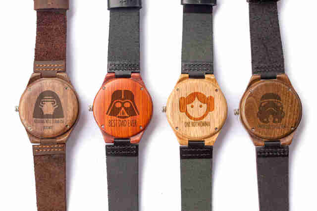 star wars engraved watches