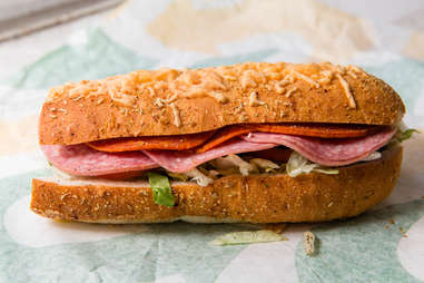 Subway Italian herb bread
