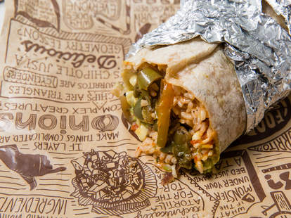 Chipotle veggie burrito