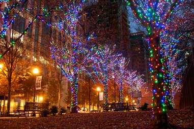 Peachmont Street Christmas LIghts