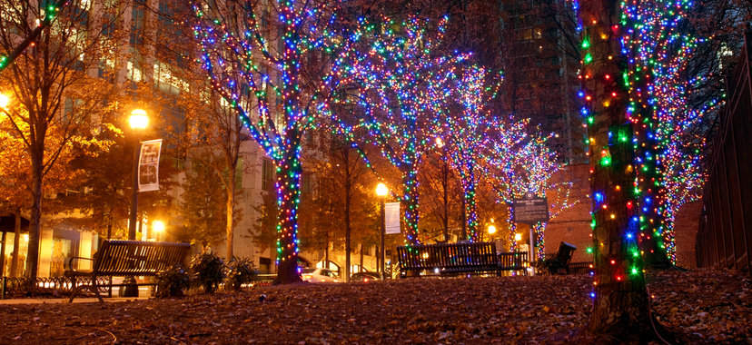 Peachmont Street Christmas LIghts