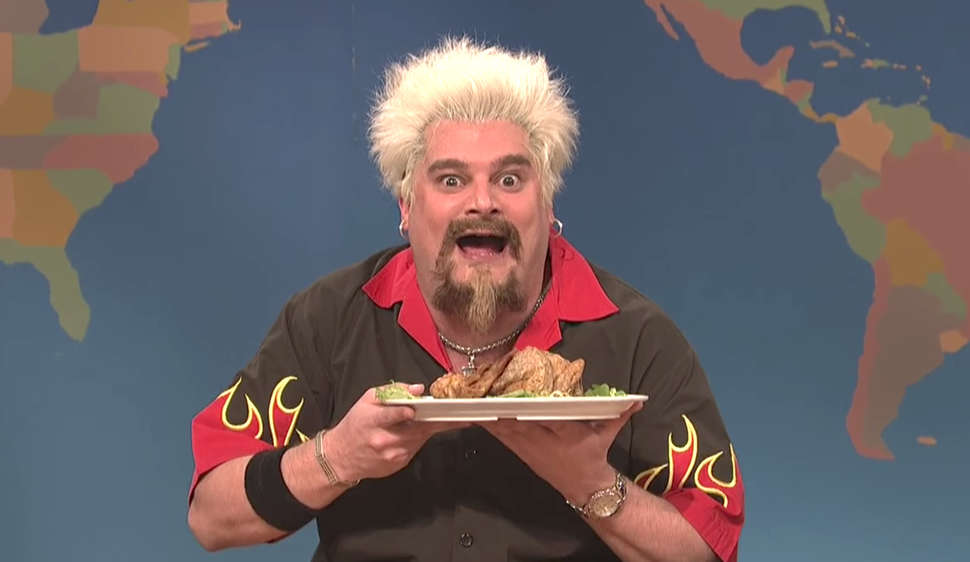 saturday night live guy fieri thanksgiving sketch