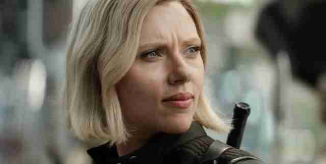 scarlett johansson as blonde Black Widow in avengers infinity war