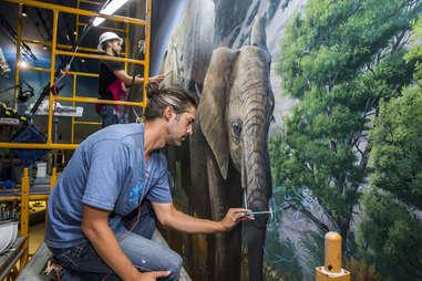 Wonders of Wildlife Museum & Aquarium painting project