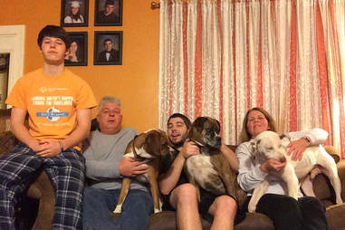 Astro and his new family after adoption