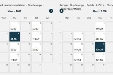 cheap flights to Caribbean
