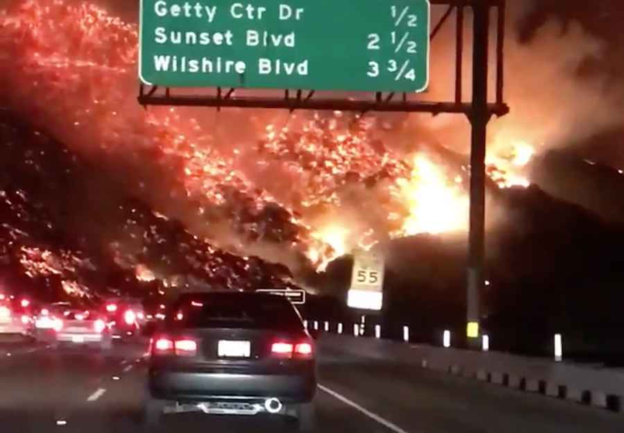 Skirball Fire: Terrifying Photos & Videos Are Being Shared