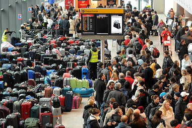 Airline Crowd with Bags