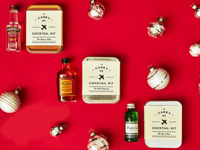 Carry-On Cocktail Kits with Smirnoff Vodka, Bulleit Bourbon & Tanqueray Gin – Spirited Gifts – Supercall