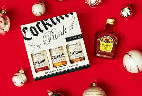 Small-Batch Mini Cocktail Bitters Set & Crown Royal Bottle – Spirited Gifts – Supercall