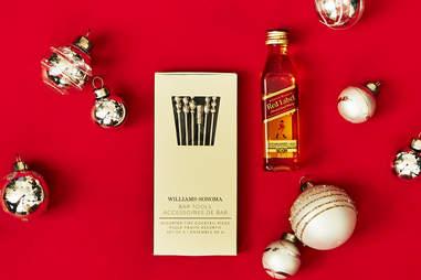 Cocktail Garnish Picks with Johnnie Walker Red Label Bottle  – Spirited Gifts - Supercall