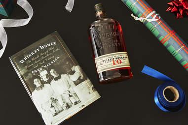 Bottle of Bulleit Bourbon & Whiskey Women Book -Whiskey Gift Guide – Supercall