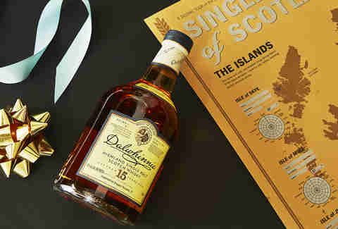 Bottle of Dalwhinnie 15 Year Old Scotch Whisky & Scotch Whisky Tasting Map -Whiskey Gift Guide – Supercall