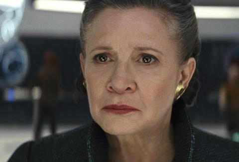 princess leia in the last jedi