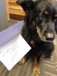 Sarge receiving his holiday bonus