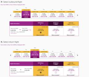 wow air flight booking page