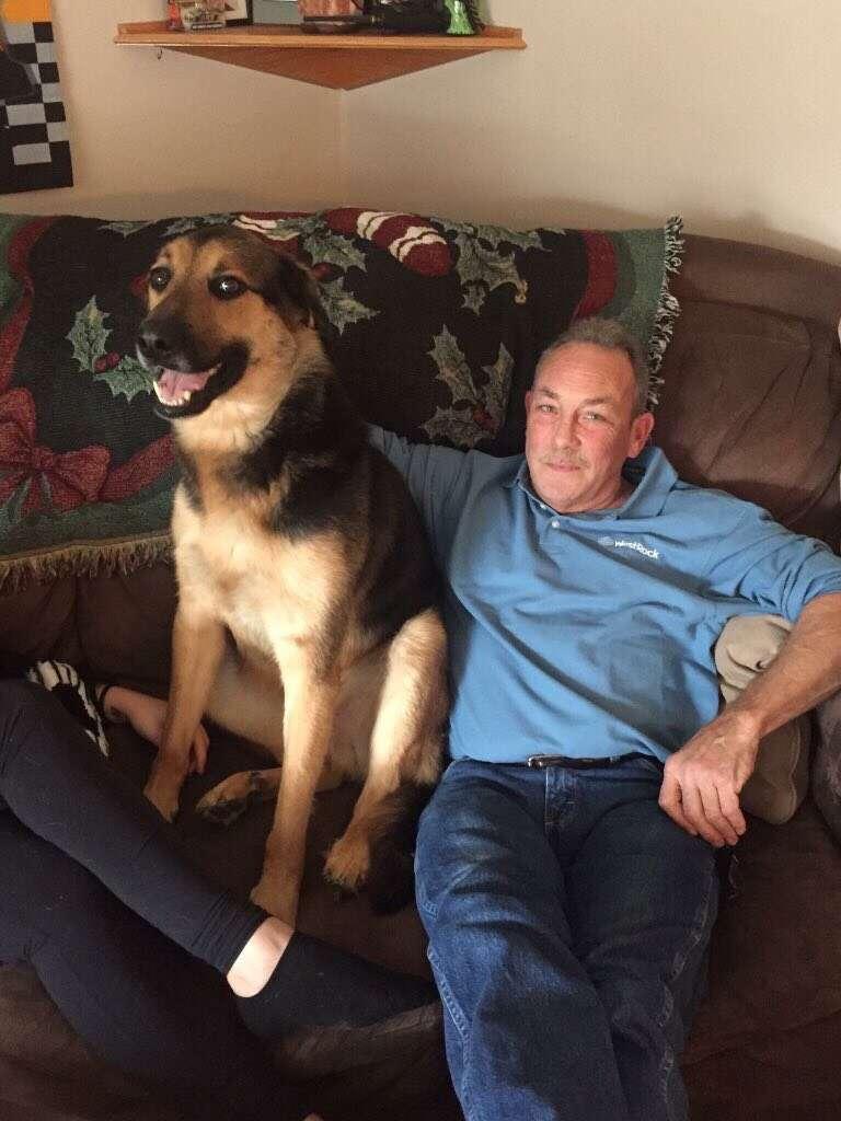 dog with grandpa virginia