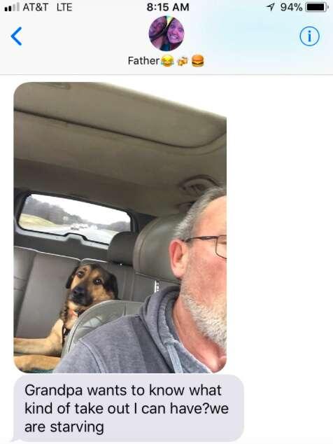 dog grandpa granddog virginia