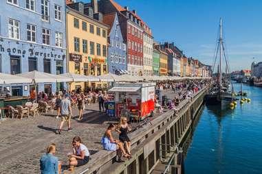 Nyhavn district of Copenhagen, Denmark