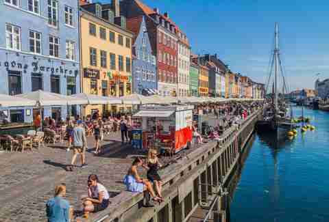Nyhavn district of Copenhagen, Denmark