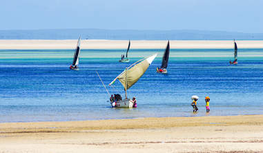coastline of Mozambique