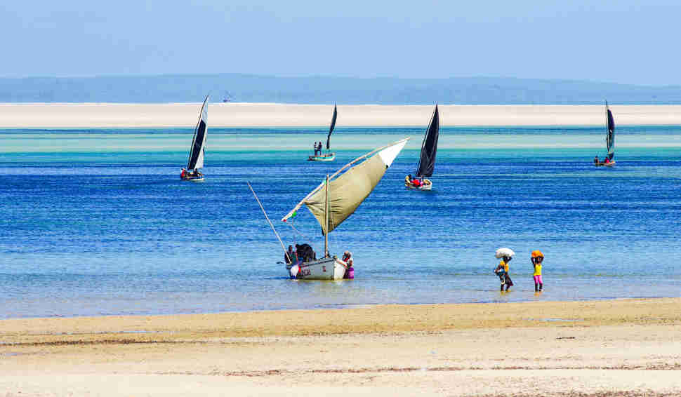 coastline of Mozambique
