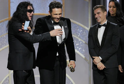 tommy wiseau james franco golden globes