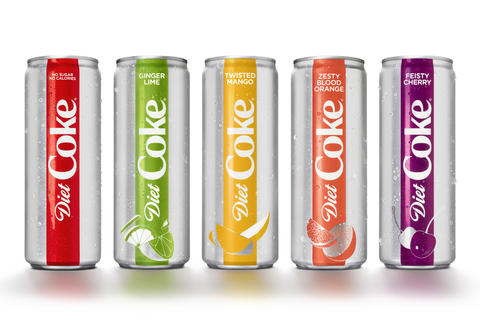 new diet coke cans