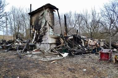 Burned down house in Illinois