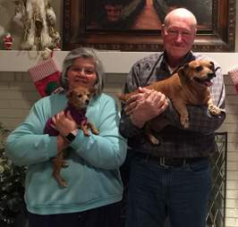 Blanche senior dog is adopted