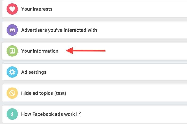 facebook ad preferences page
