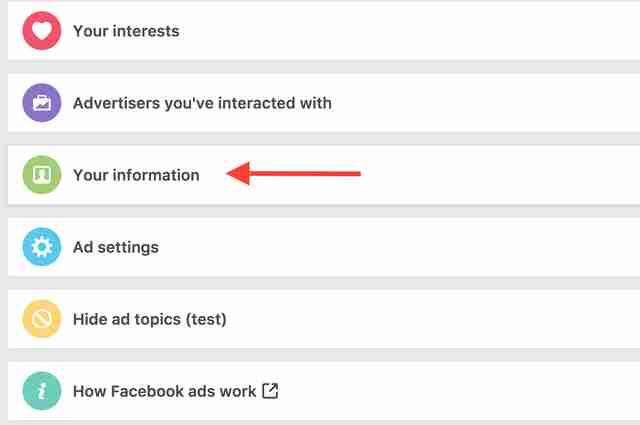 facebook ad preferences page