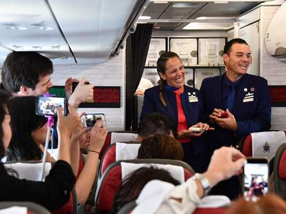 couple married by pope francis on plane