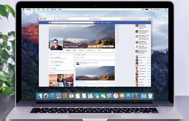 facebook on macbook