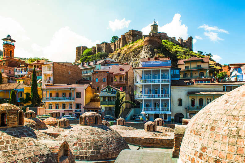 Old Town in Tbilisi City of Georgia