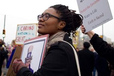 women's protest