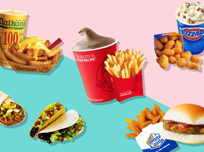 Vegetarian fast food vegan wendys nathans taco bell dairy queen white castle