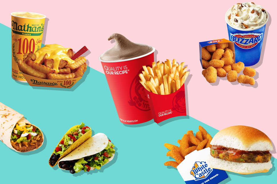 Menu Card For Fast Food