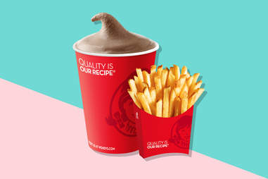 wendy's fries and chocolate frosty