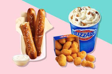 dairy queen pretzel sticks and cheese curds