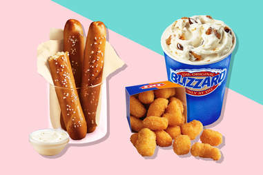 dairy queen pretzel sticks and cheese curds