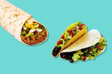 taco bell tacos and burritos